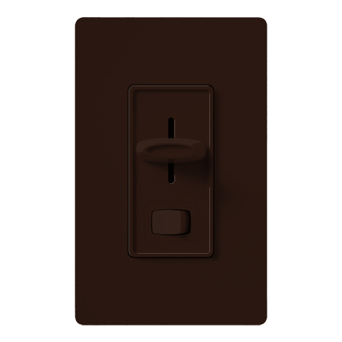 Lutron Electronics SELV-300P-BR 300 W 120 Volt Brown 1-Pole Electronic Low Voltage Dimmer