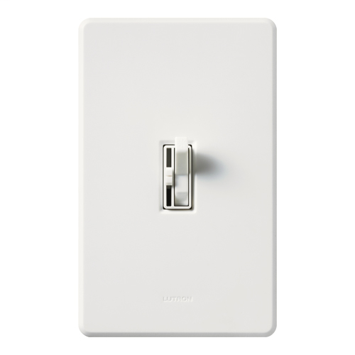 Lutron AYFSQ-FH-WH 120 Volt White 3-Speed 1-Pole/3-Way Toggle Fan Control Dimmer