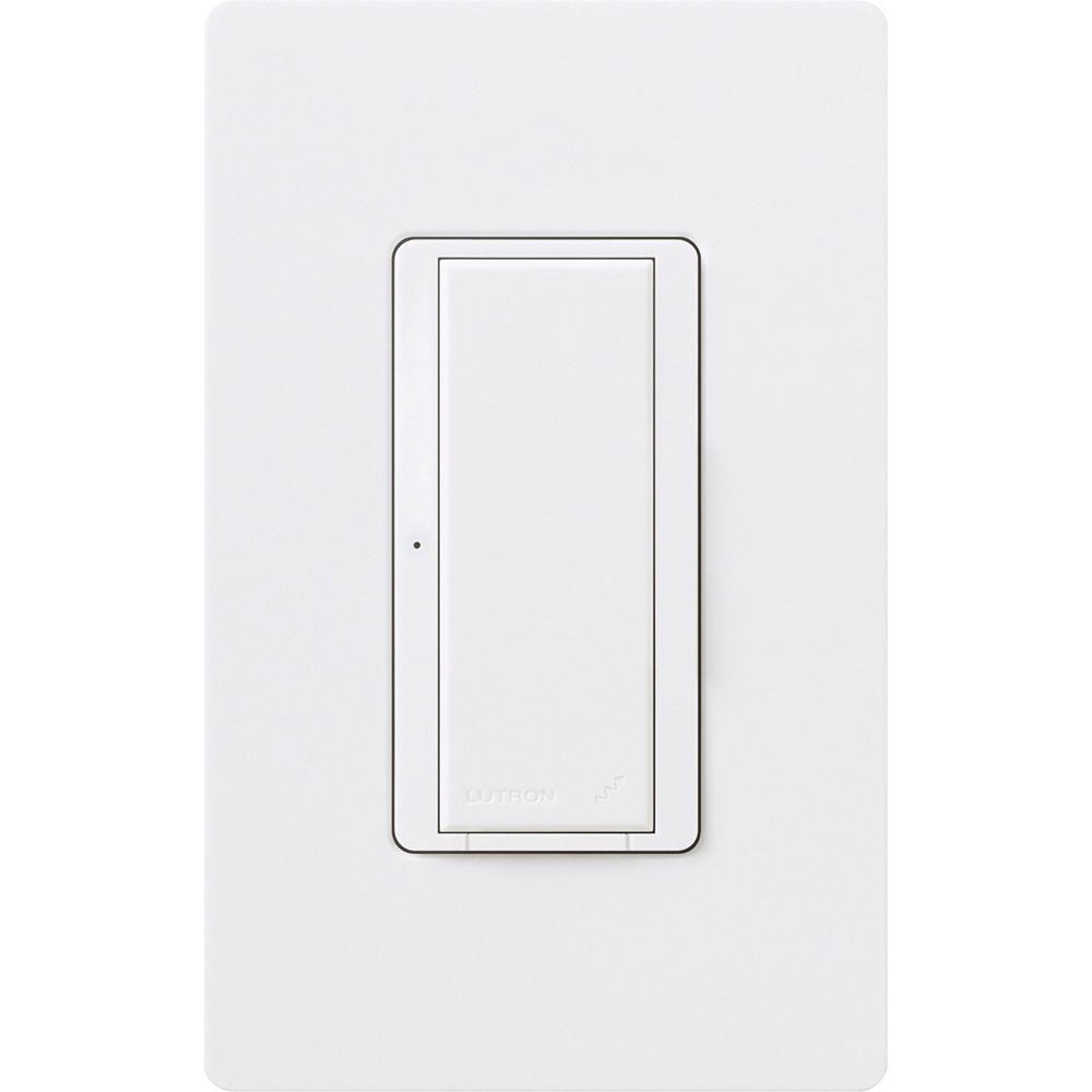 Lutron Electronics RRD-8ANS-WH 1-Pole 8 Amp 120 VAC 10 W White Multi-Location Electronic Switch with Neutral Wire