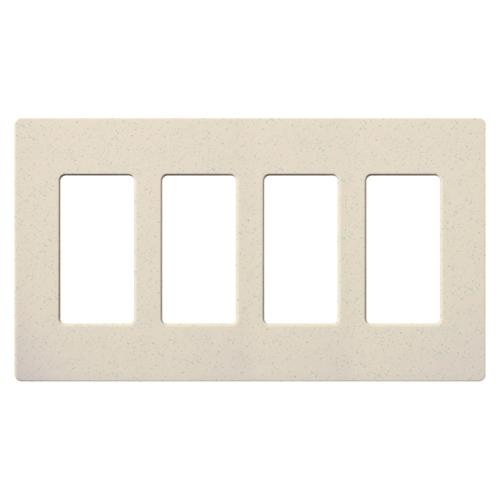 Lutron Electronics SC-4-LS 4-Gang Limestone Polycarbonate Standard Designer Wallplate