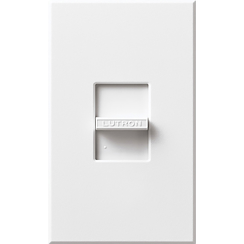 Lutron N-600-WH 600 W 120 Volt 1-Pole Incandescent White Slide Dimmer