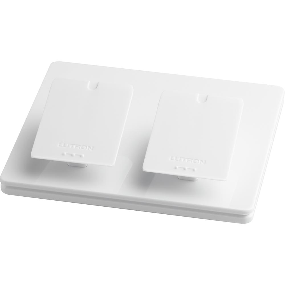 Lutron Electronics L-PED2-WH Dual Mount White Wireless Control Tabletop Pedestal