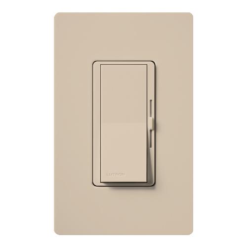 Lutron Electronics DVSC-603P-TP 600 W 120 Volt Taupe 3-Way Incandescent/Halogen Paddle Switch Preset Dimmer