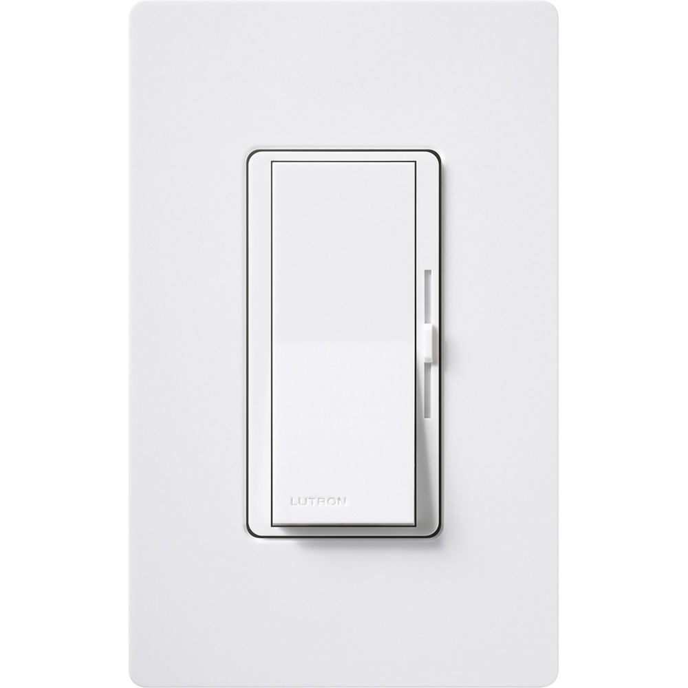 Lutron Electronics DVSTV-WH Load 120 to 277 Volt White 1-Pole/3-Way Wall Box Control Preset Dimmer