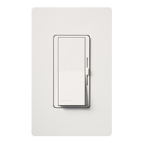 Lutron Electronics DV-10P-WH 1000 W 120 Volt White 1-Pole Incandescent/Halogen Paddle Switch Dimmer