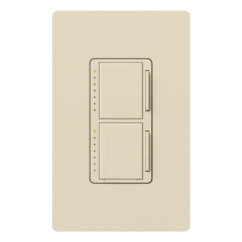 Lutron MA-L3L3-LA 300 W 120 Volt Light Almond 1-Pole Incandescent/Halogen Digital Fade Dimmer
