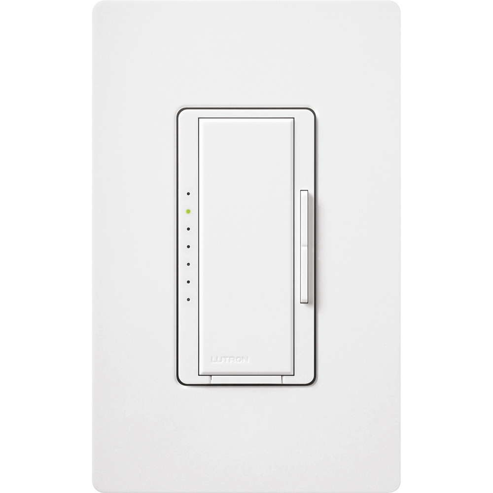 Lutron Electronics MACL-153M-WH 600 W 120 Volt White 1-Pole/3-Way/Multi-Location Incandescent/Halogen Dimmer