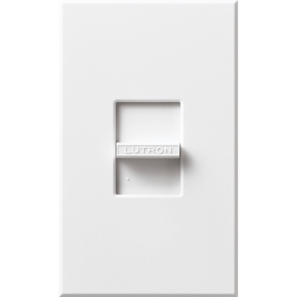Lutron N-1000-WH 1000 W 120 Volt White 1-Pole Incandescent/Halogen Slide Dimmer