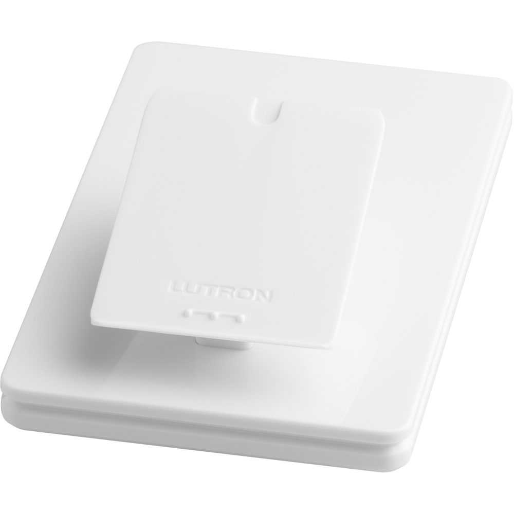 Lutron Electronics L-PED1-WH Single Mount White Wireless Control Tabletop Pedestal