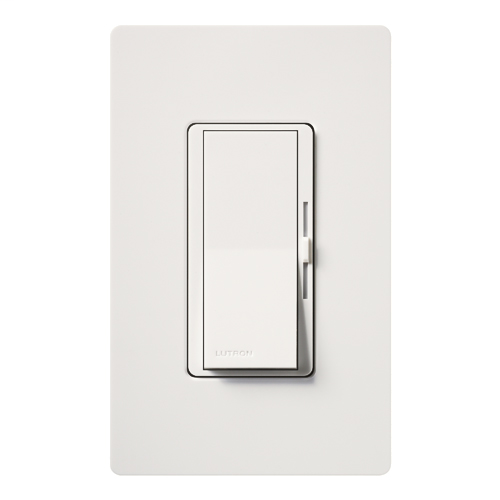 Lutron DVLV-600PH-WH 450 W 120 Volt White 1-Pole Magnetic Low Voltage Paddle Switch Preset Dimmer