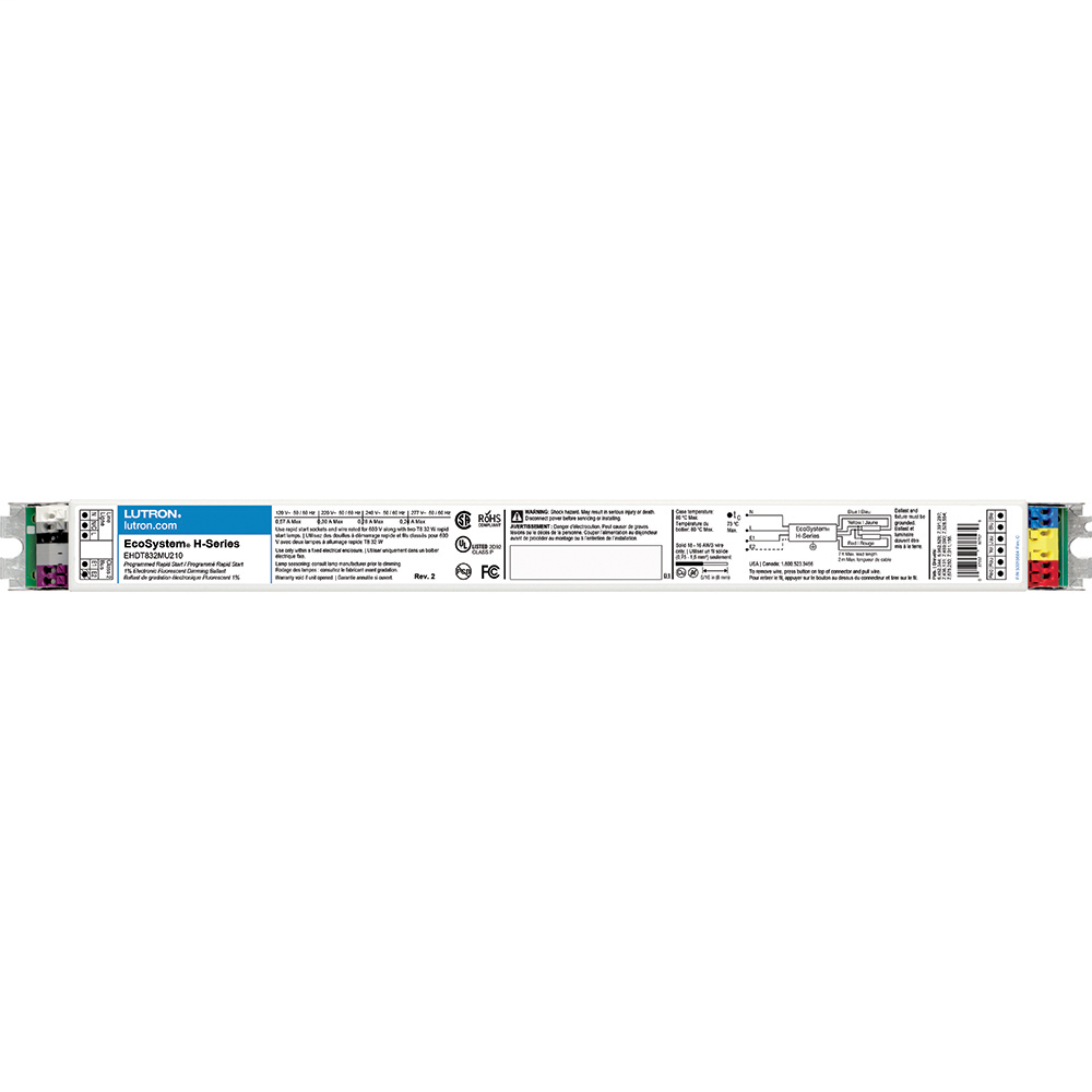 Lutron Electronics EHDT832MU210 32 W 277 Volt 0.47 Amp T8 Linear and U-Bent Fluorescent Dimming Ballast