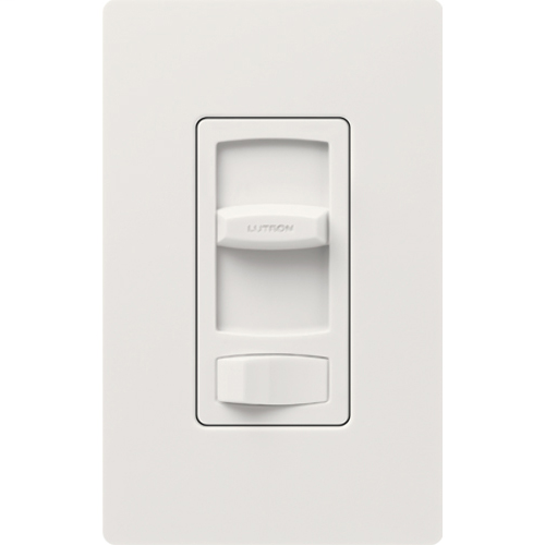 Lutron CTCL-153PH-WH 150 W 120 VAC White Dimmable Compact Fluorescent/LED 1-Pole/3-Way Linear Slide Dimmer
