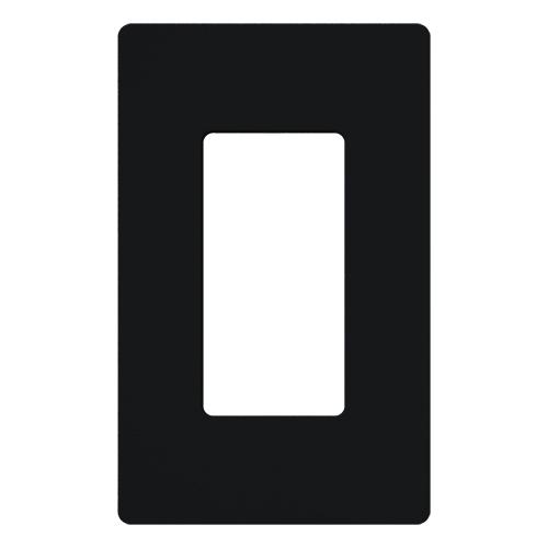 Lutron CW-1-BL 1-Gang Black Polycarbonate Standard 1-Dimmer Designer Wallplate