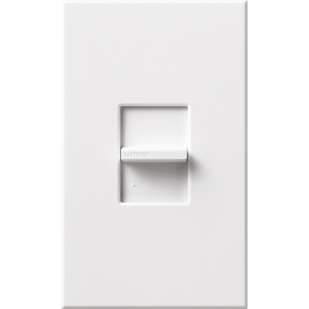 Lutron Electronics NT-1PS-WH 120/277 VAC 20 Amp 1-Pole Brass/Copper Terminal White Linear Slide Switch
