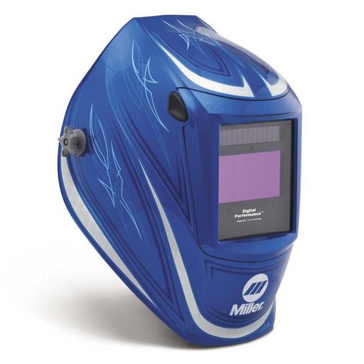 Miller digital Performance 64' Custom Welding Helmet With Variable Shades 3, 5 - 13 Clearlight Lens Technology Auto Darkening Lens