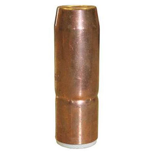 "Tregaskiss Heavy Duty (HD) Air-Cooled Nozzles (Thread-On) 5/8"" bore, 1/8"" tip recess, copper, short taper"