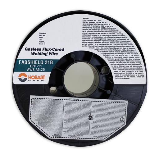 """.045"""" E71T-11 Fabshield 21B Self Shielded Flux Core Carbon Steel Tubular Welding Wire 10 Lb Spool"""