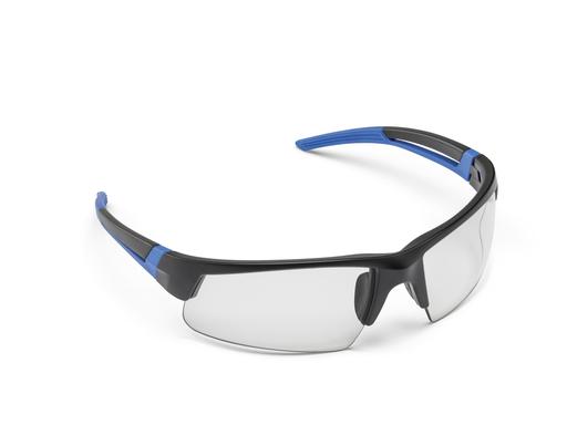 Safety Glasses, Spark, Black &Blue, Clear