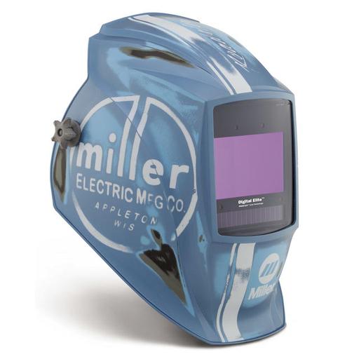 Miller digital Elite Vintage Roadster Welding Helmet With Variable Shades 3, 5 - 13 Clearlight Lens Technology Auto Darkening Lens