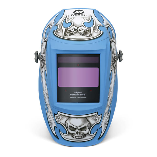 Miller digital Performance Crusher Helmet With Variable Shades 3, 5 - 13 Clearlight Lens Technology Auto Darkening Lens