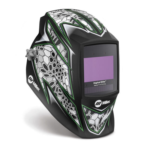 Miller Digital Elite Raptor Welding Helmet Variable Shades 3/5 - 13 Auto Darkening Lens ClearLight