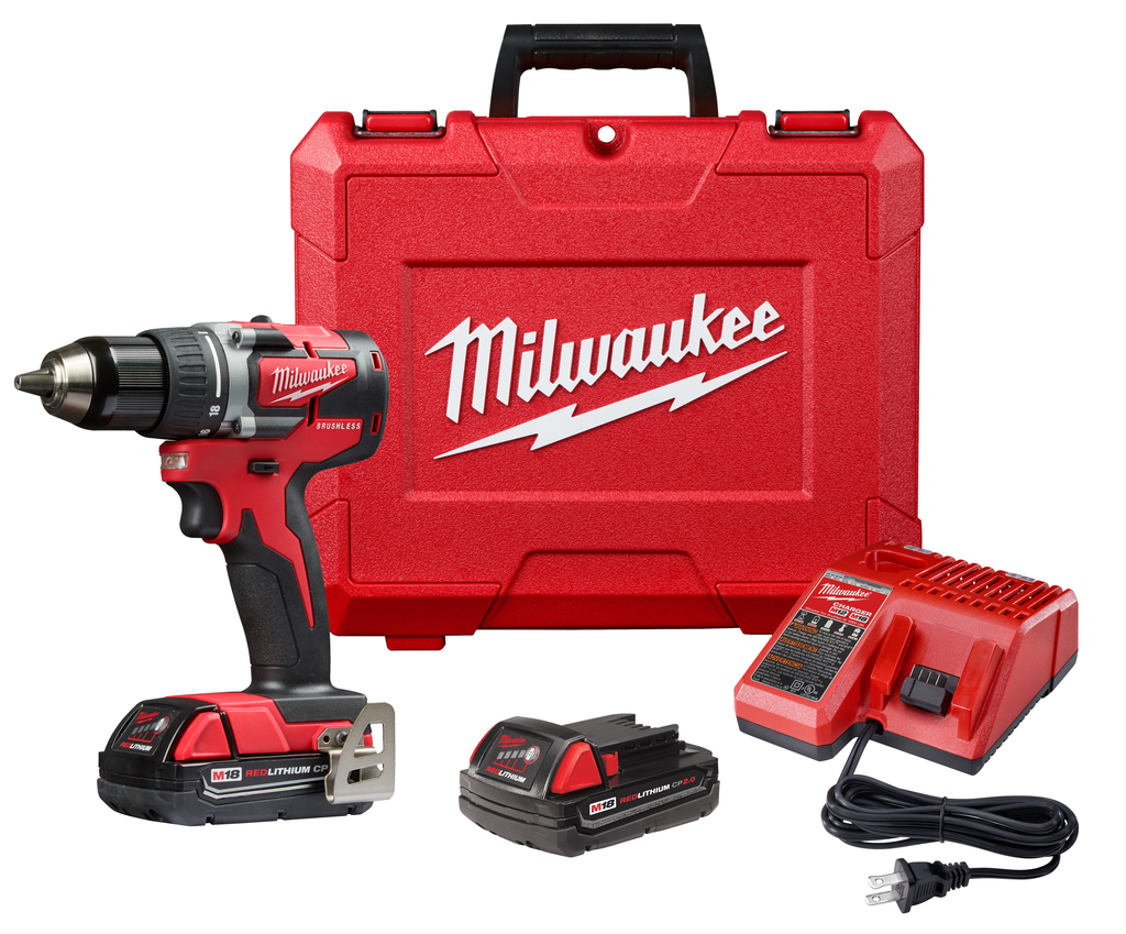 "Milwaukee 2801-22CT M18™ Compact Brushless 1/2"" Drill CP Kit"