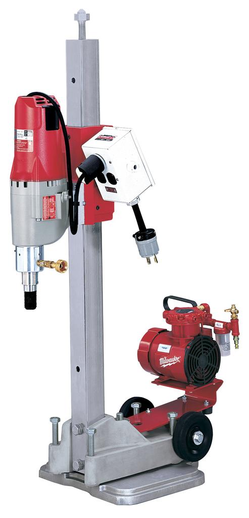 Diamond Coring Rig with Small Base Stand, Vac-U-Rig® Kit, Meter Box and Diamond Coring Motor