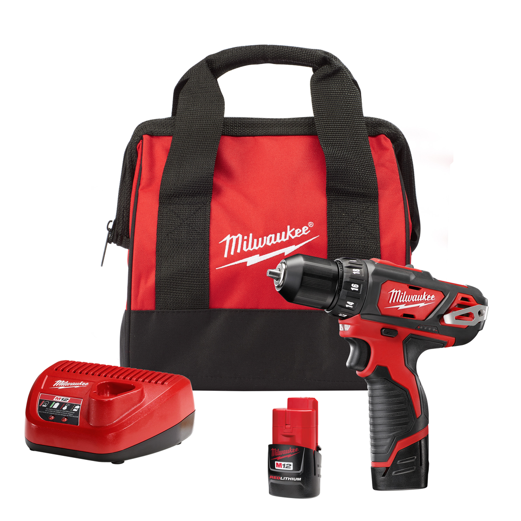 "Milwaukee 2407-22 M12™ 3/8"" Drill/Driver Kit w/Battery & Charger"