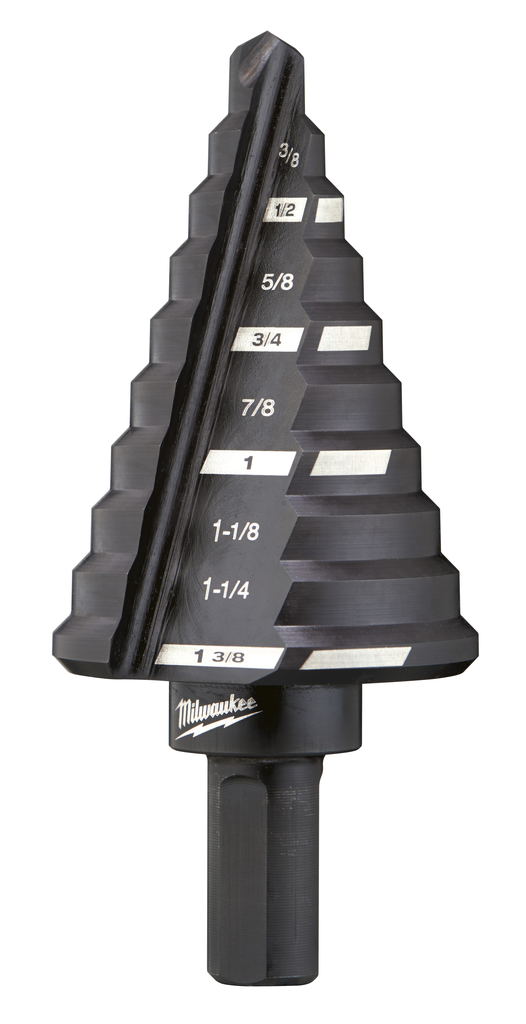 Mayer-#5 Step Drill Bit, 1/4 in. - 1-3/8 in. x 1/8 in.-1