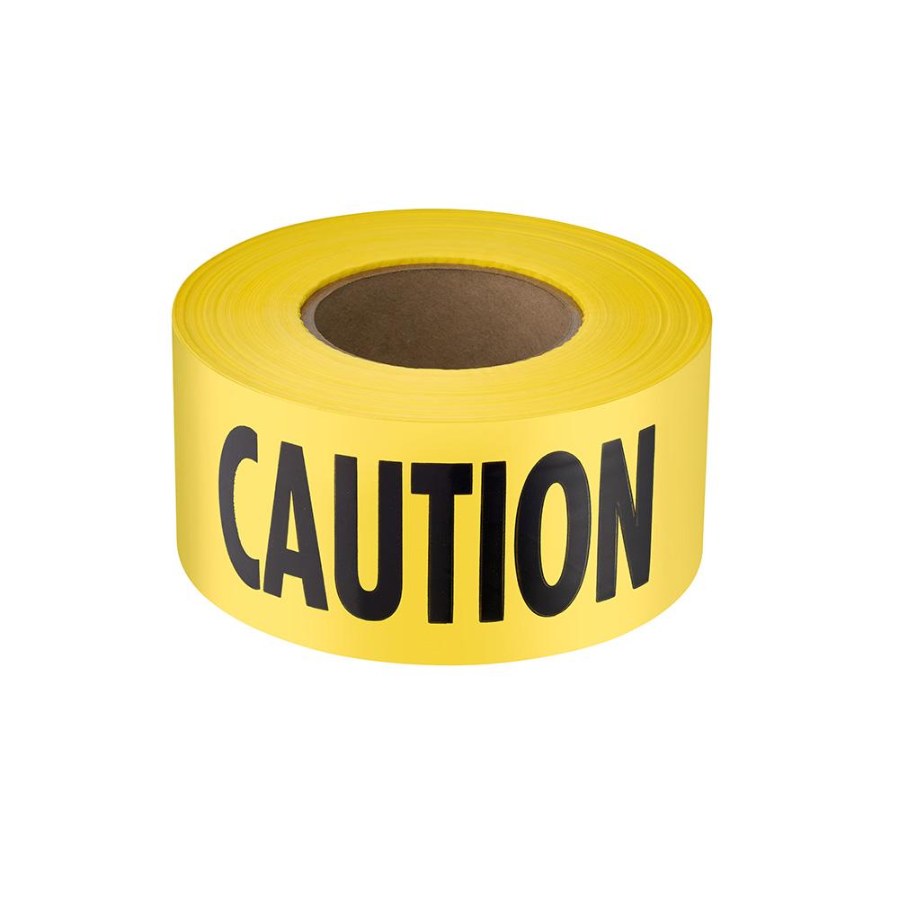 1000 ft. Premium Yellow Barricade Tape - Caution