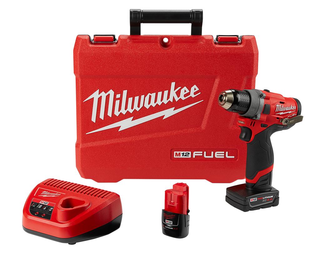 """Milwaukee 2503-22 M12#8482; FUEL™ 1/2"""" Drill Driver Kit"""