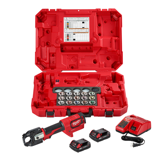 Mayer-M18™ Force Logic™ 600 MCM Crimper Kit with #8 to 600 MCM Cu Dies-1