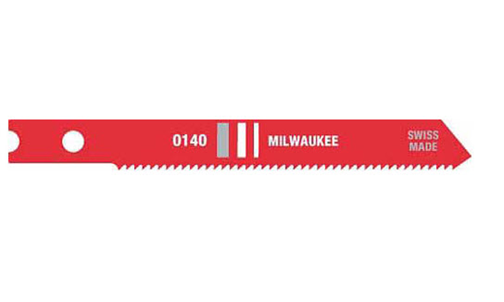 "Milwaukee 48-42-0140 2-3/4"" 24 TPI High Speed Steel Jig Saw Blade (5 Pack)"