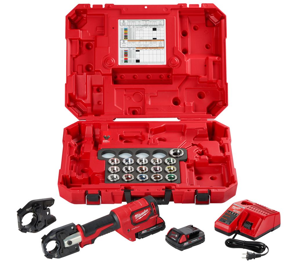 Mayer-M18™ Force Logic™ 600 MCM Cu Crimper Kit w/ 750 MCM Expanded Jaw-1