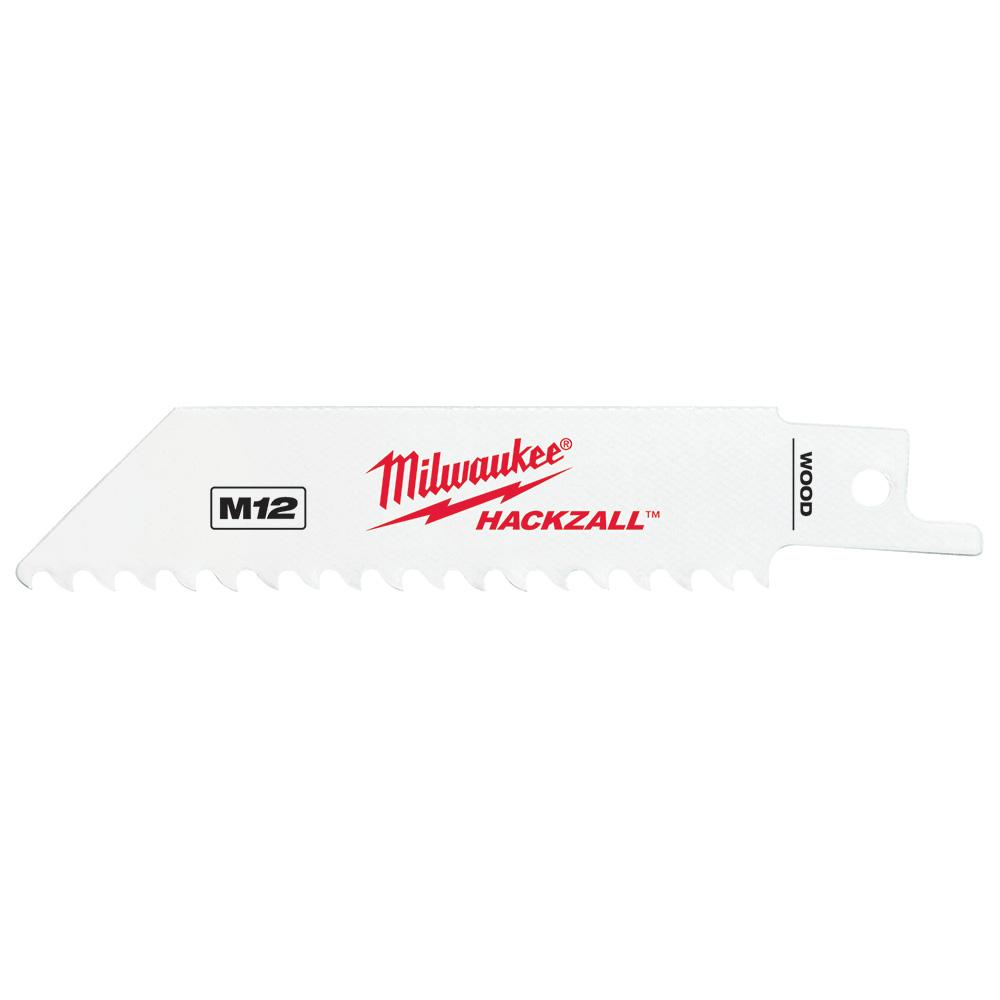 Milwaukee 49-00-5460 M12™ HACKZALL® Bi-Metal Blade-Wood (5 Pack)