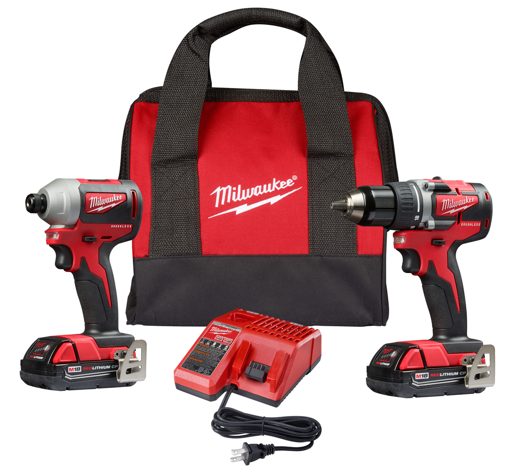 Mayer-M18™Compact Brushless Drill Driver/Impact Driver Combo Kit-1