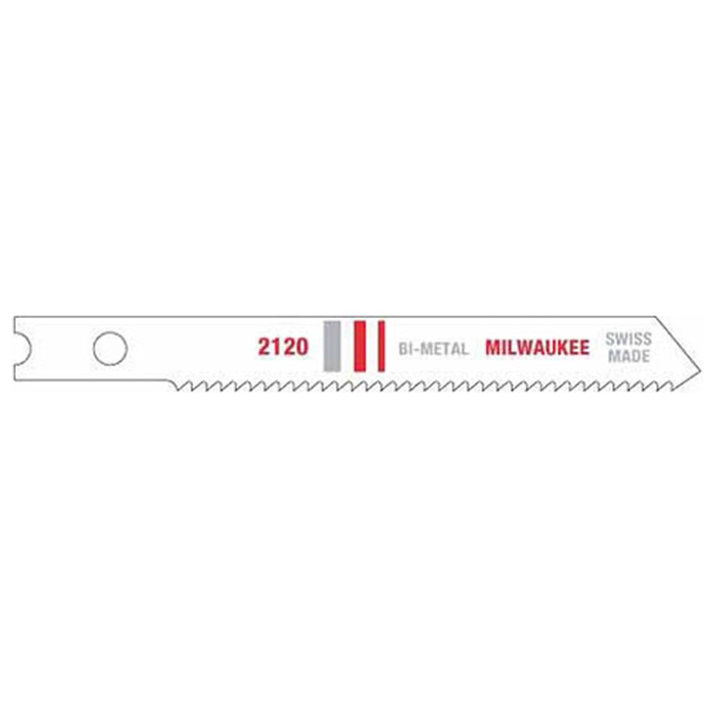 "Milwaukee 48-42-2120 2-3/4"" 18 TPI Bi-Metal Jig Saw Blades (5 Pack)"