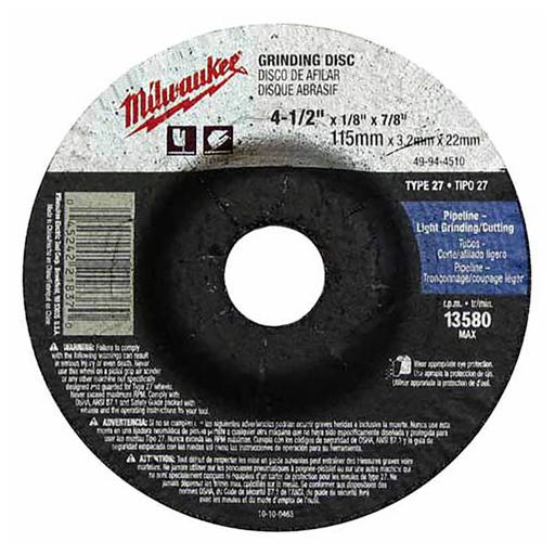 Mayer-4-1/2 in. x 1/4 in. x 7/8 in. Grinding Wheel (Type 27)-1