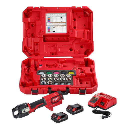 Mayer-M18™ Force Logic™ 350 MCM Crimper Kit with #8 to 350MCM Al Dies-1