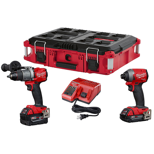 Mayer-M18 FUEL™ Hammer Drill/Impact PACKOUT™ Kit-1