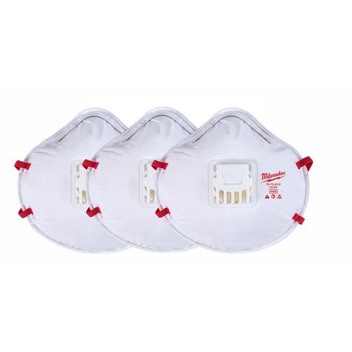 3pk N95 Valved Respirator