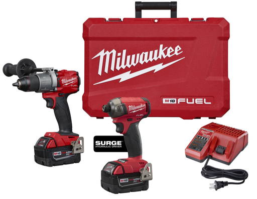 Mayer-M18™ FUEL™ 2-Tool Hammer Drill & SURGE™ Hydraulic Driver Combo Kit-1