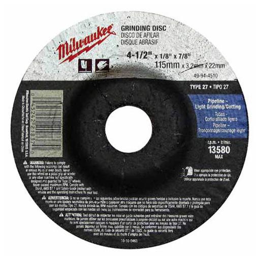 4-1/2 in. x 1/8 in. x 7/8 in. Grinding Wheel (Type 27)