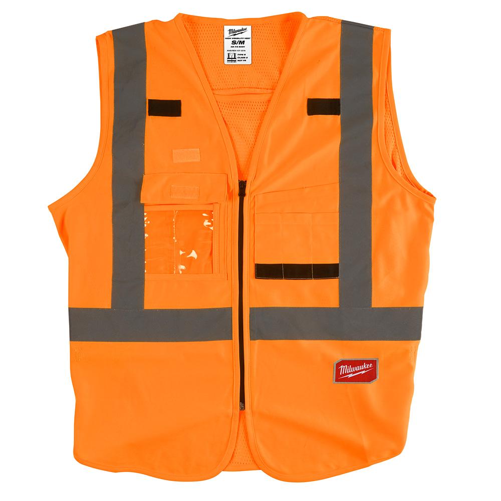 Mayer-High Visibility Orange Safety Vest - S/M-1
