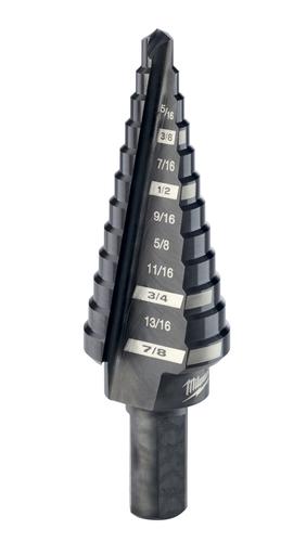 #4 Step Drill Bit, 3/16 in. - 7/8 in. x 1/16 in.