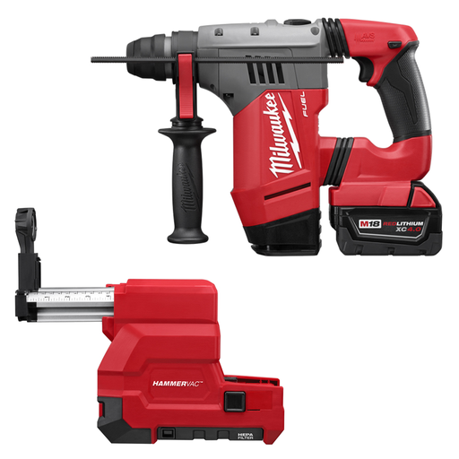 M18 FUEL™ 1-1/8 in. SDS-Plus Rotary Hammer & HAMMERVAC™ Dedicated Dust Extractor Kit