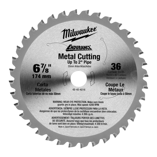 6-7/8 in. 36T Ferrous Metal Circular Saw Blade
