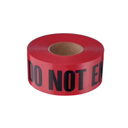 Mayer-1000' Premium Red Barricade Tape-Danger Do Not Enter-1