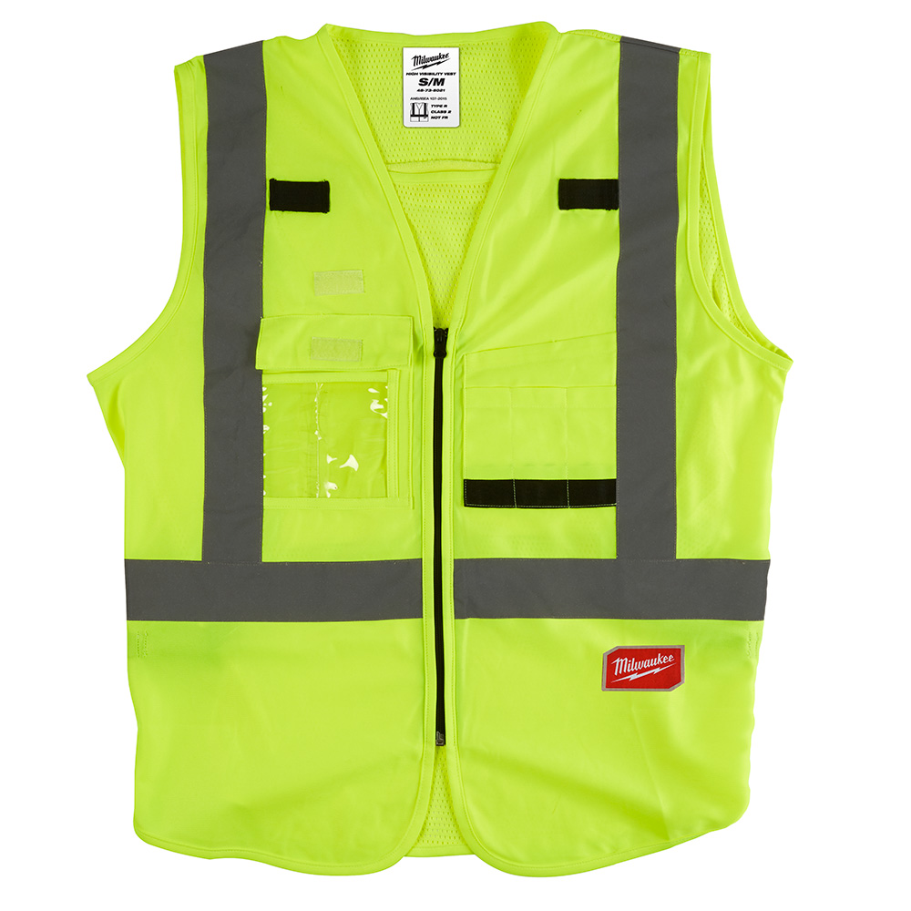 Mayer-High Visibility Yellow Safety Vest - S/M-1