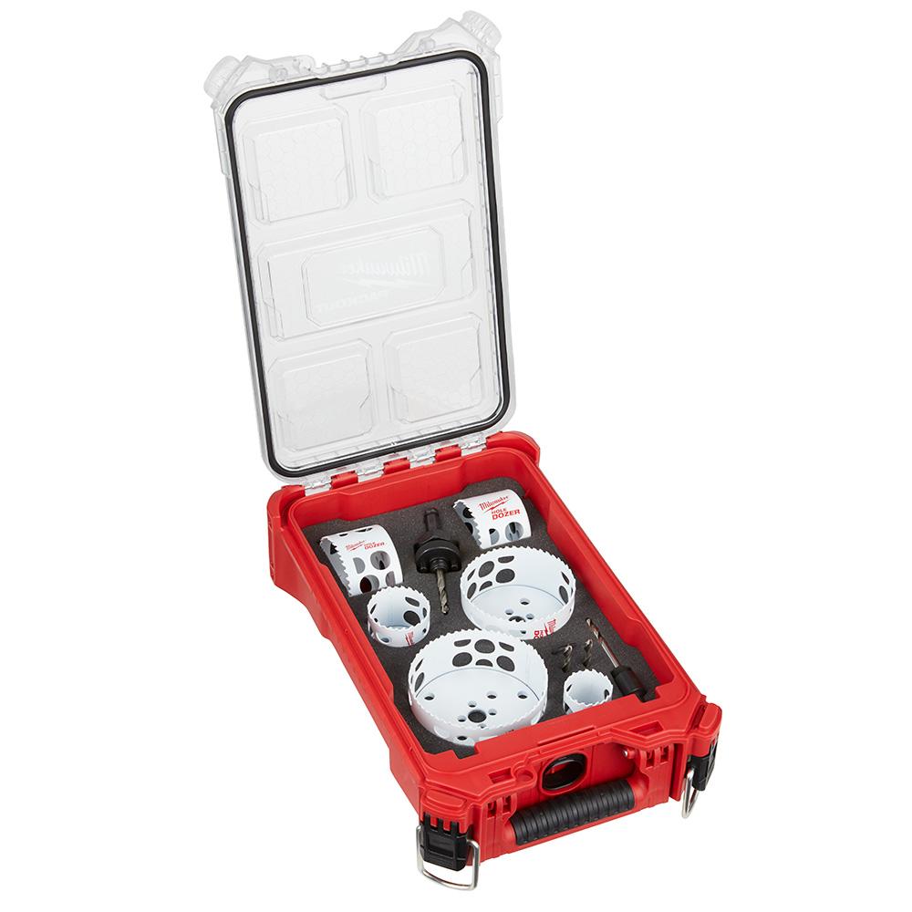 Mayer-HOLE DOZER™ Bi-Metal Hole Saw Kit with PACKOUT™ Compact Organizer - 10PC-1